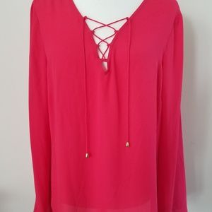 INC International Concepts Blouse Size 14 NWT